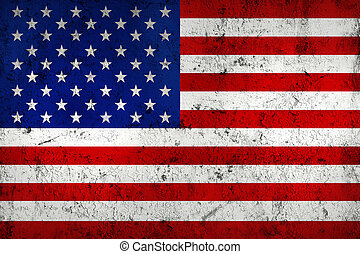 (american), drapeau, usa, a mûri, grunge, sale