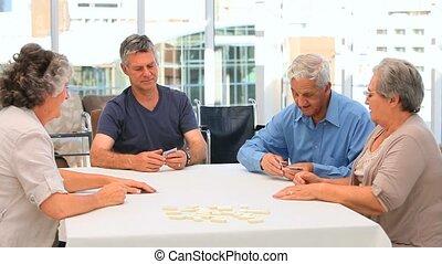 amis, jouer cartes