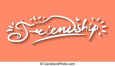 amitié, lettrage