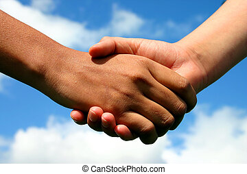 amitié, mains