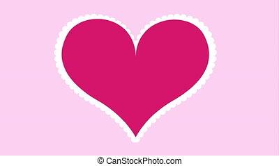amour, animation, vidéo, conception, carte