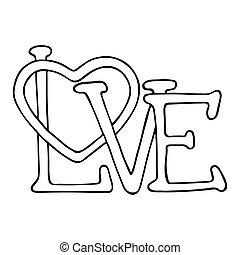amour, conception, coeur
