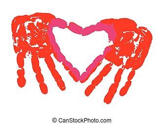 amour, copie main