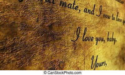 amour, fond, lettre, grunge