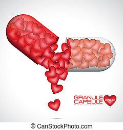 amour, illustration, capsule