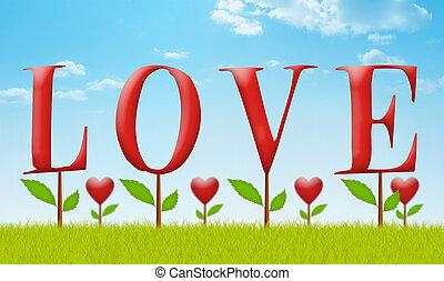 amour, jardin