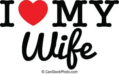 amour, mon, épouse