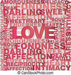 amour, mots, valentin