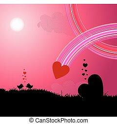 amour, oiseaux
