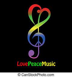 amour, paix, musique