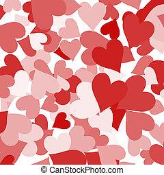 amour, projection, valentines, romance, papier, fond, cœurs