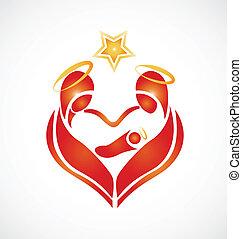 amour, saint, famille