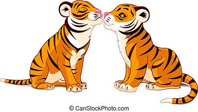 amour, tigres, deux