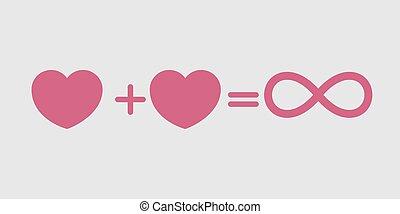 amour, toujours, éternel, amour