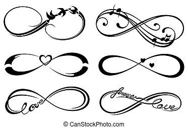 amour, toujours, infinité, symbole