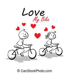 amour, vélo, mon