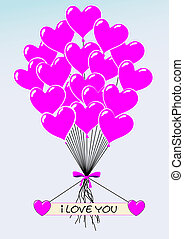 amour, vous, heartballoons