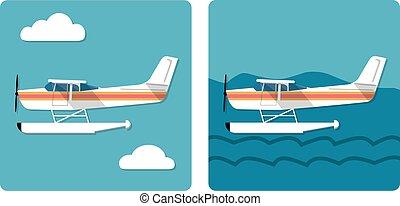 amphibie, petit avion