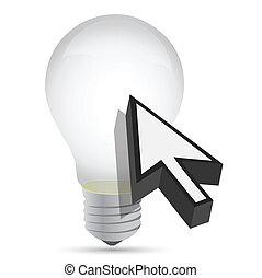 ampoule, idée, illustration