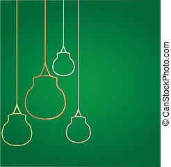 ampoules, incandescent, pendre
