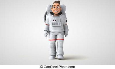 amusement, astronaute, dessin animé