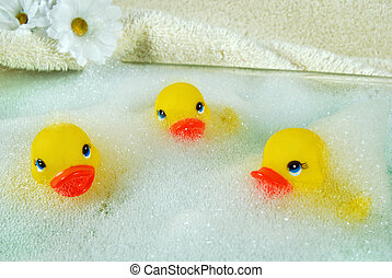 amusement, bain moussant