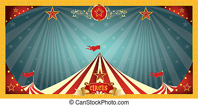 amusement, cirque, bannière