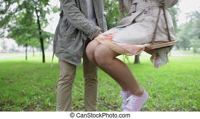 amusement, couple, avoir
