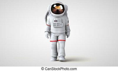 amusement, dessin animé, astronaute
