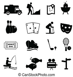 amusement, loisir, icônes