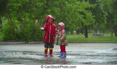amusement, pluie