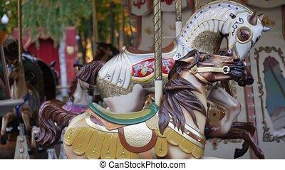 amusement, ville, park., carrousel, francais