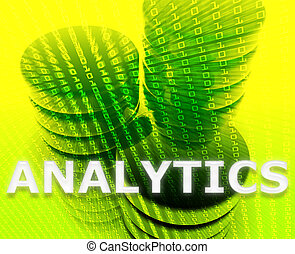 analytics, données, illustration