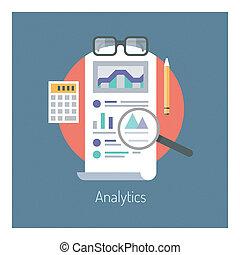 analytics, statistiques, illustration