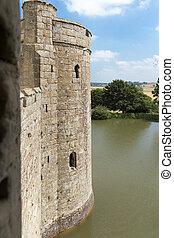 ancien, angleterre, sussex, royaume-uni, château, bodiam