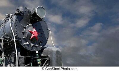 ancien, vapeur, locomotive