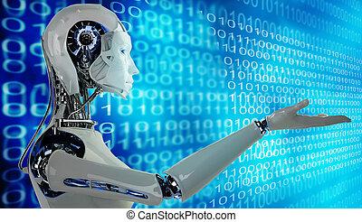 androïde, femmes, robot