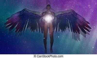ange, ailé, être