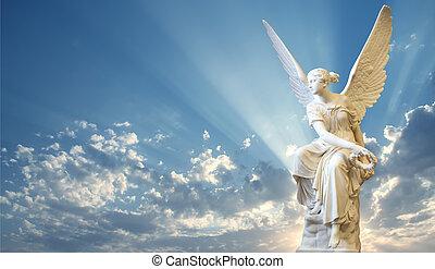 ange, beau, ciel