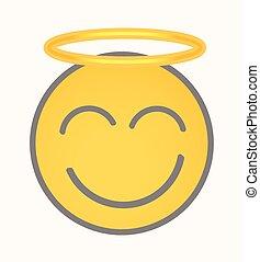 ange, smiley, -, figure, vecteur, dessin animé