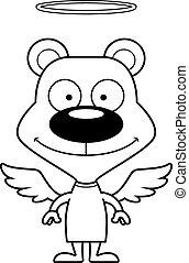 ange, sourire, dessin animé, ours