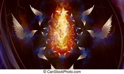 anges, fractal, ailes