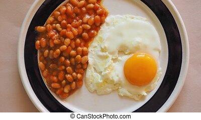 anglaise, végétarien, petit déjeuner