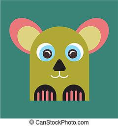 animal, mascotte, étrange