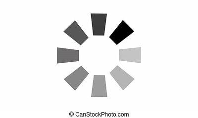 animation, alpha, icône, fond blanc, chargement, cercle, channel.