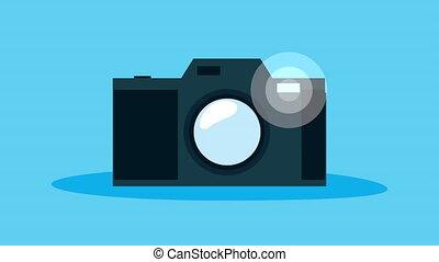 animation, appareil, appareil photo, technologie, photographique