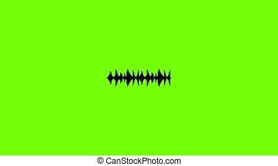 animation, chanson, compensateur, icône