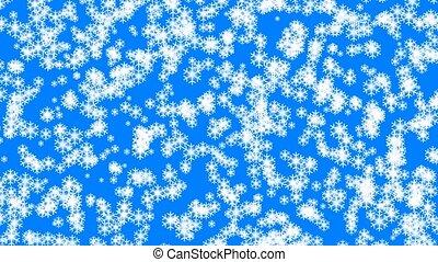 animation, chute neige