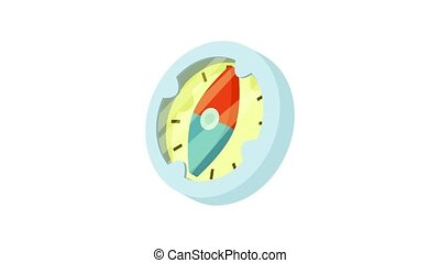 animation, compas, icône