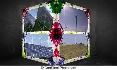 animation-cube, 3d, ener, renouvelable